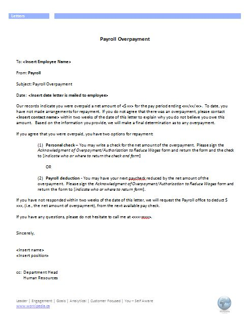 Free how to write overpayment letter - Sample Overpaid Taxes