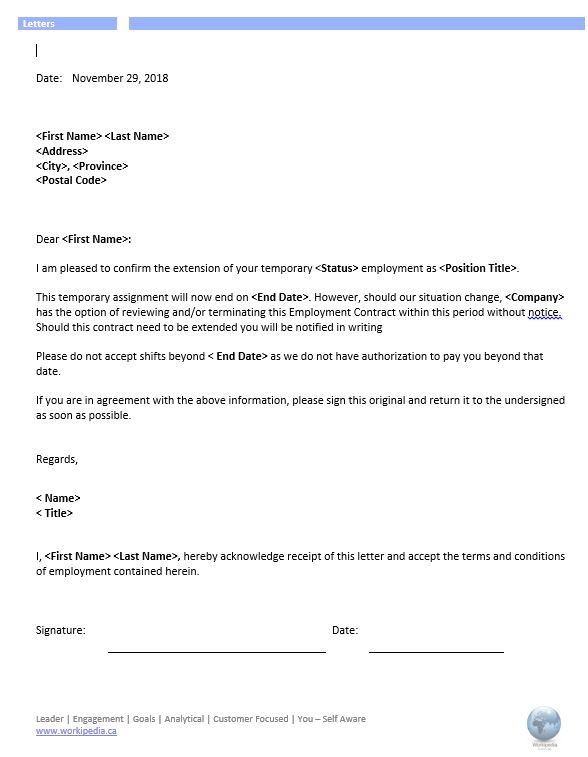 Letter Of Job Offer from workipedia.ca